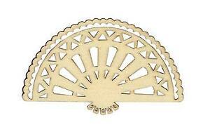3-en-Bois-Victorienne-eventail-a-la-main-ajourees-Fabrication-Carte-Toppers-10-cm-Decoration-Craft