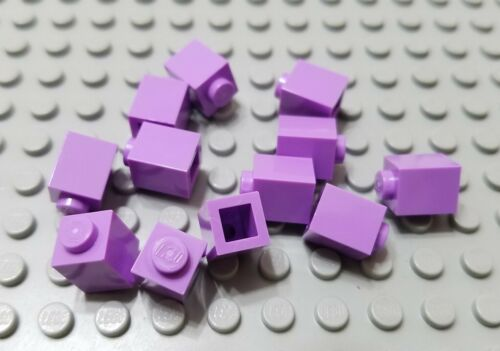 New LEGO Lot of 12 Medium Lavender 1x1 Friends Girls Building Bricks