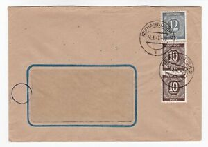 Germany-Allied-occupation-1946-joint-zone-stamps-cover-Hannover-cancel-1947-post