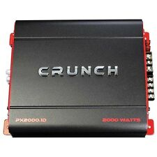 Crunch Px-2000.1 D 2000 vatios Mono Potente Auto Amplificador Audio Amp Nuevo