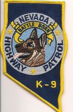 K-9  DHF  NEVADA HIGHWAY PATROL !!! Police Patch Polizei Abzeichen Hundeführer