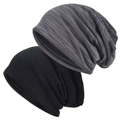 Multi-Black VECRY Men Slouch Hollow Beanie Thin Summer Cap Skullcap