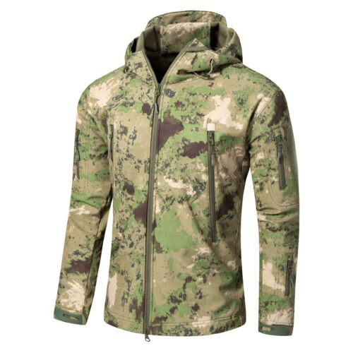 Windproof Mens Tactical Jacket Soft Shell Fleece Military Casual Coat Waterproof