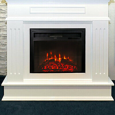 28 Embedded Electric Fireplace Wall Mount Heater Flame Insert W
