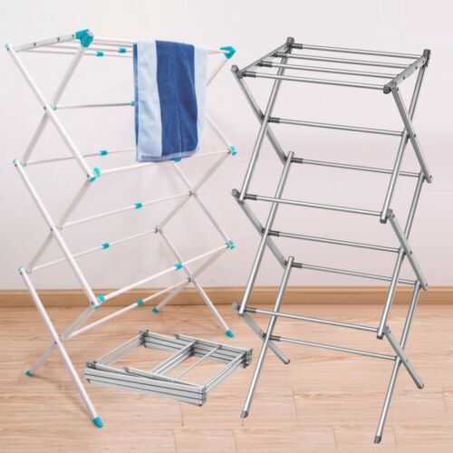 3 Tier extendable Clothes Airer Dryer Metal Laundry Drying Rack Indoor Outdoor