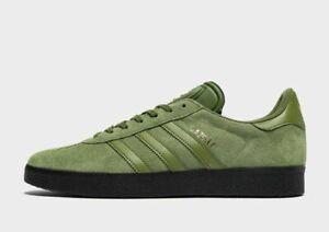 Adidas-Originals-Gazelle-Cuir-Vert-Sneaker-Hommes-toutes-tailles-Limited-Stock