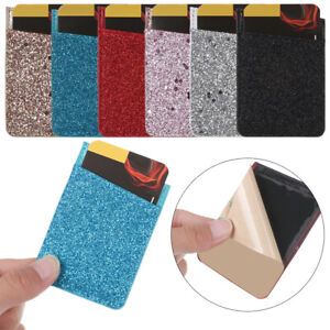 Credit-Card-ID-Holder-PU-Leather-Wallet-Pocket-Stick-On-Cell-Phone-Case-Back