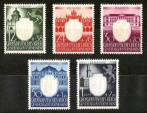 DR-Nazi-3d-Reich-Rare-WW2-GG-Stamp-Hitler-Swastika-Eagle-Castle-Gothic-Tower-War