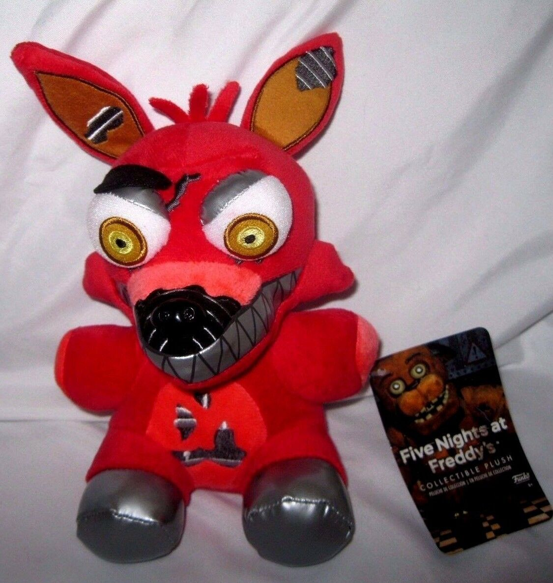 Five Nights at Frossody's 6  Nightmare rosso Foxy Plush-FNF rosso Foxy Plush-Nuovo