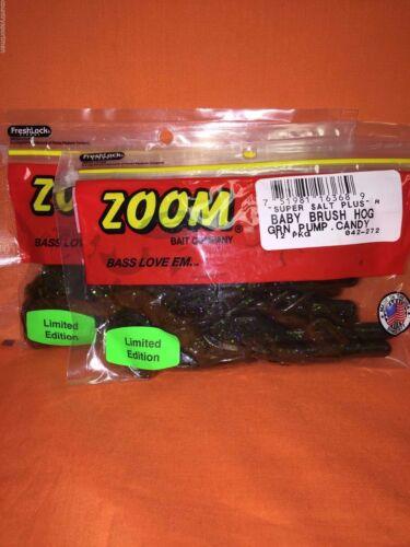 2 Pcks Zoom Bébé Brush Hog 12cnt #042-272 Green Pumpkin Candy
