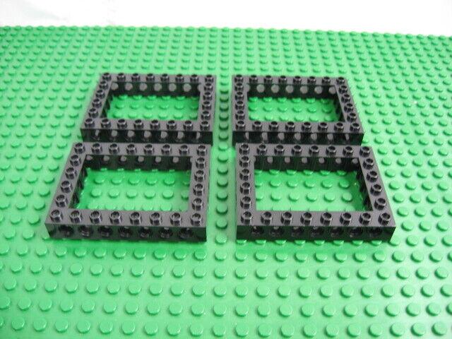 LEGO Parts~ 1 Brick 6 x 8 Open Center 40345 BLACK Technic