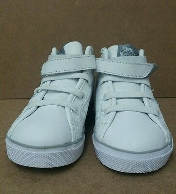 Chicos Lonsdale Blanco Zapatillas Tamaño 6 de alta Tops < J5769