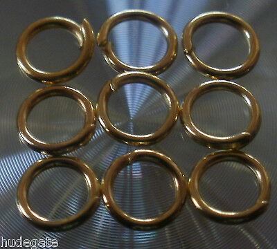 100 GOLD Plated 3 4 5 6 7 8mm Open Jump Rings Wholesale Jewellery Making Job Lot