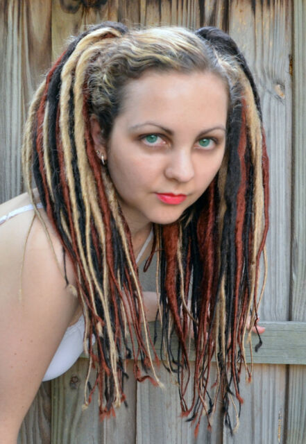 *Multi-Tone* Clip-on Synthetic Ponytail Hair Falls Dreadlocks Dreads Gothic
