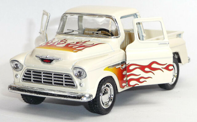 1955 Chevrolet 3100 pick-up modelo de coleccionista 1:32 stepside beige Kinsmart mercancía nueva