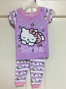 release info on shop best sellers best authentic Girls Clothes Toddler Outfit Pajamas Set Hello Kitty | eBay