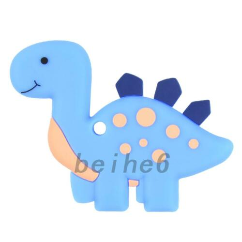 Baby Dinosaur Pendant Teething Necklace Silicone Teether Autism Sensory Chew Toy
