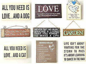 Selection vintage style retro wooden hanging signs plaque for Plaque deco cuisine retro