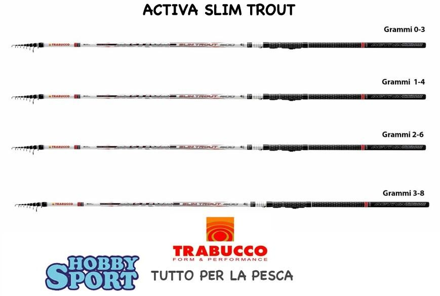CANNA TRABUCCO ACTIVA SLIM TROUT  AZ ULS   14 GR TREMARELLA  MT 4,00