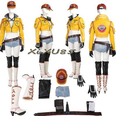 Final Fantasy XV Cindy Aurum Cosplay Costume+Cap Full Set Custom Made Halloween
