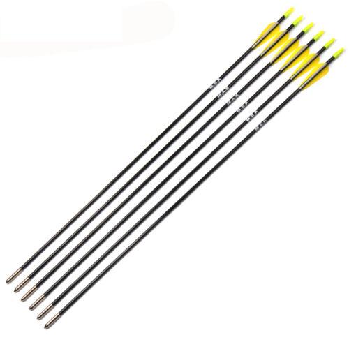 "31/""12pcs Sports Hunting Arrows Outdoor Archery Practice Target Fiberglass"