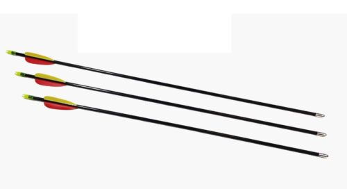 "SUPERFAST FIBREGLASS ARCHERY ARROWS 30/"" BLACK 5PK"