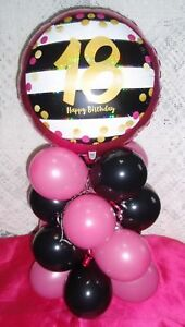 Image Is Loading AGE 18 FOIL BALLOON 18th BIRTHDAY TABLE DECORATION