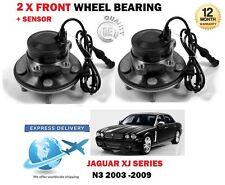 FOR JAGUAR XJ 6 N3 2005-2009 2X FRONT WHEEL BEARING HUB KIT WITH ABS SENSOR SET