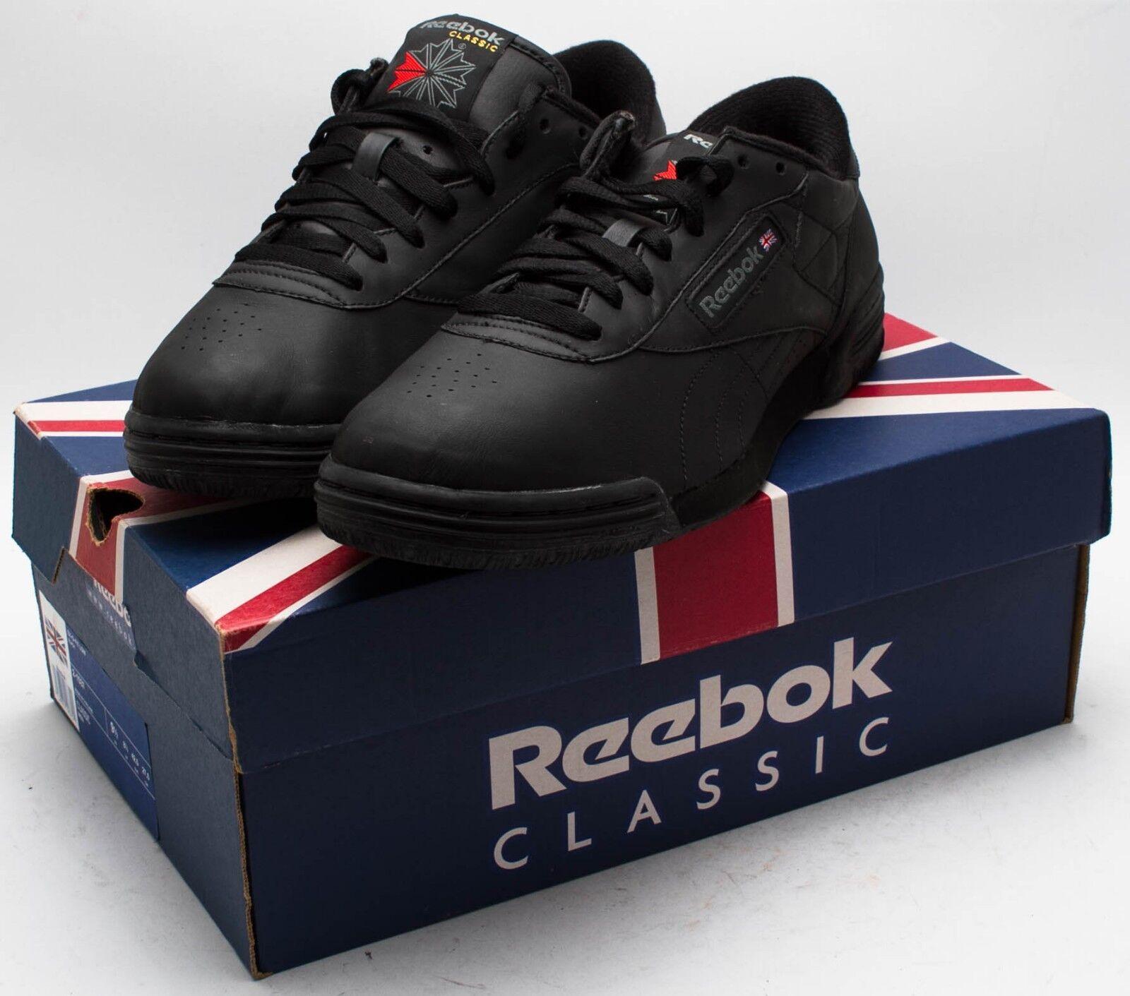 Reebok Herren VINTAGE 1990s Exofit niedrig Schuhe 2-1537 schwarz Größe 9.5