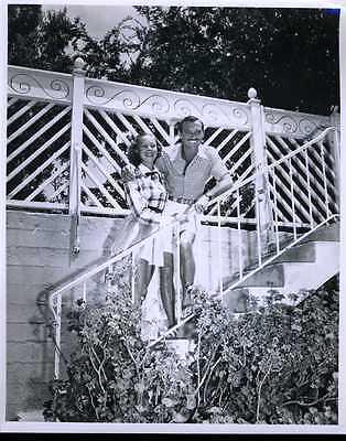 """Zachary Scott & Wife Elaine Original 8x10"""" Photo #J6880"""