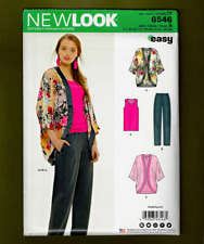 Pants Sewing Pattern~Easy! Sizes XS-XL New Look 6546 Kimono Sleeveless Top
