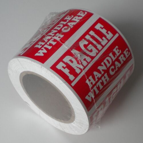 5 ROLL PLEASE HANDLE WITH CARE FRAGILE SIZE 3 X 5 INCHES L001A 500 STICKERS