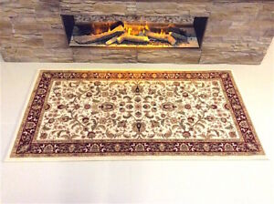 TOP-QUALITY-RED-CREAM-Traditional-Classic-Oriental-Wool-Des-Rug-80x150cm-60-OFF