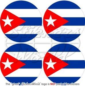 Cuba Cubain, 50mm Vinyle Autocollant X4 Jjvqppgj-08005650-492606446