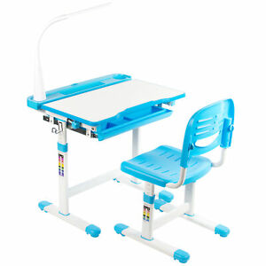 VIVO-Blue-Height-Adjustable-Children-039-s-Desk-and-Chair-Kids-Interactive-Station