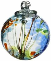 Kitras Art Glass Decorative Spirit Ball, 6-inch, Light Blue, New, Free Shipping on Sale