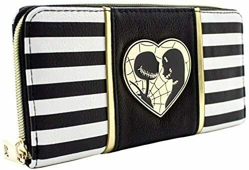 NEW Nightmare Before Christmas Jack Sally Black Coin Card Clutch Purse Showcase