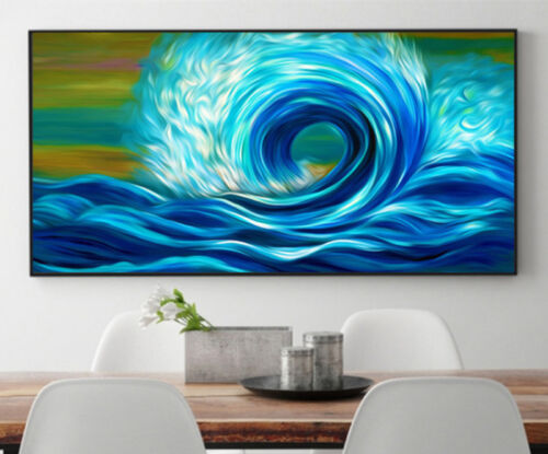 5D DIY Diamond Painting Abstract Sea wave Embroidery Crafts Wall Decor Art M121