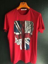 Ben Sherman Union Jack T Shirt, Dawn Red, Size S