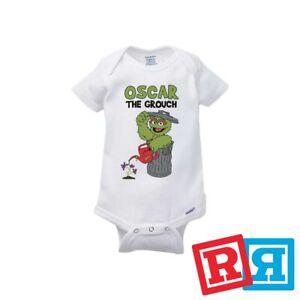 Details About Oscar The Grouch Baby Onesie Sesame Street Kids Bodysuit Gerber Organic Cotton