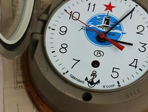 SOVIET-RUSSIAN-VOSTOK-BOAT-SHIP-SUBMARINE-NAVY-CABIN-USSR-ANTIMAGNETIC-CLOCK