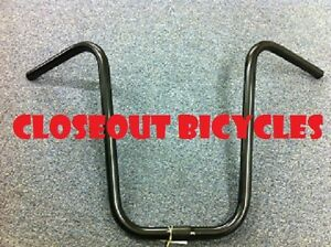 """Bicycle Dyno Handlebar 9/"""" 25.4mm Black Lowrider Cruiser Chopper Bike Handlebar"""