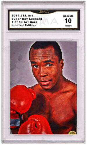 Sugar Ray Leonard 1 of 49  Art Card Gem MT 10 Artist Autograph Boxing