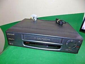 Orion-D2098-Grabadora-De-Cassette-De-Video-Vhs-Vcr-Inteligente-Negro-Pequeno-totalmente-probado