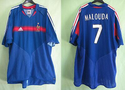 Maillot Equipe France Malouda #7 Vintage Adidas Jersey Football Home XL | eBay