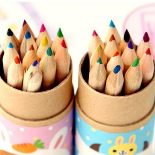 12 Colors Artist Drawing Painting Sketching Drawing Pencils With Sharpener Gifts