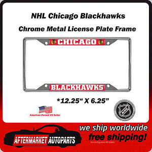 Chicago Blackhawks Nhl Chrome Metal Car Auto License Plate