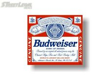 """Huge Budweiser Label Decal Sticker 22""""x20"""" great for Beer Fridge or Toolbox"""