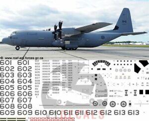 V1 Decals Lockeed C-130J-30 Hercules RCAF for 1/72 Italeri Model Airplane Kit