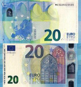 FRANCE (U), € - 20 EURO BANKNOTE - ISSUE 2015 Draghi Signature, UNC